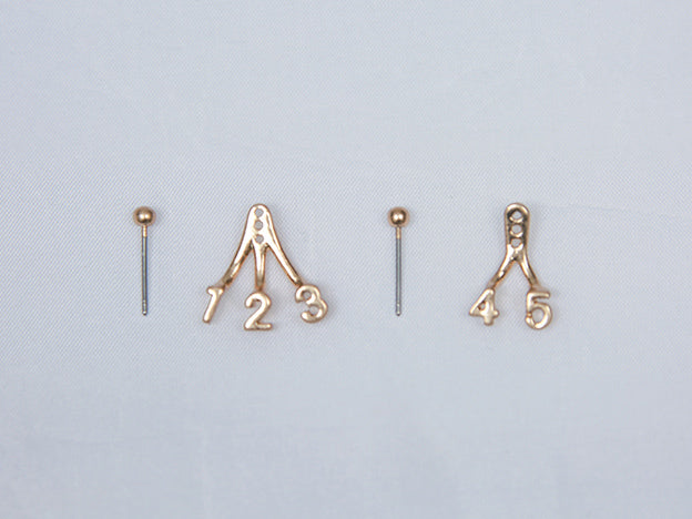 Number 1 to 5 Stud Earrings