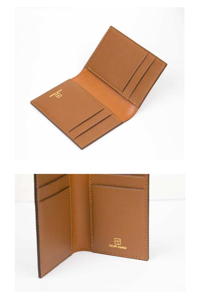 Slim Folding Card Holder - Luxurious Epsom & Sully Leather (Quick to ship)