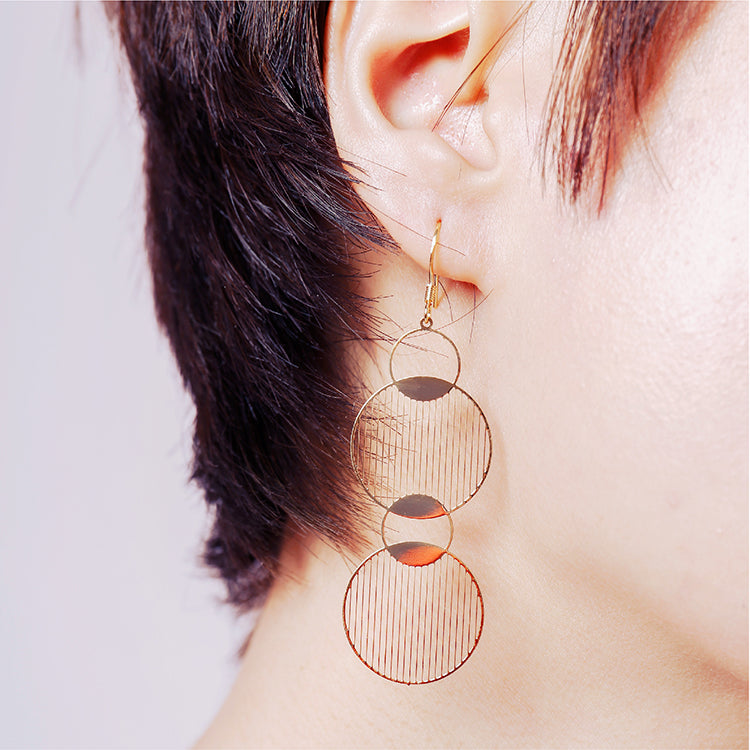 18K Gold Plated Link Circle Earrings - AHED Project