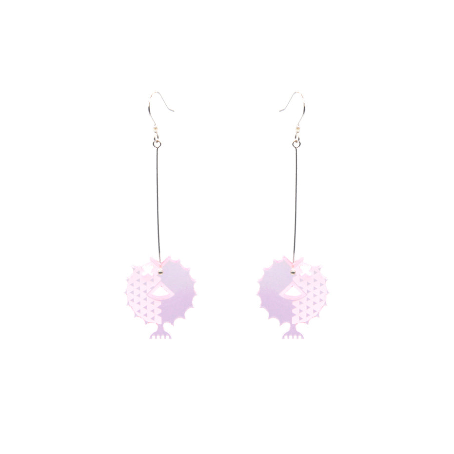 Sea World  Series - Puffer Fish Drop Earrings