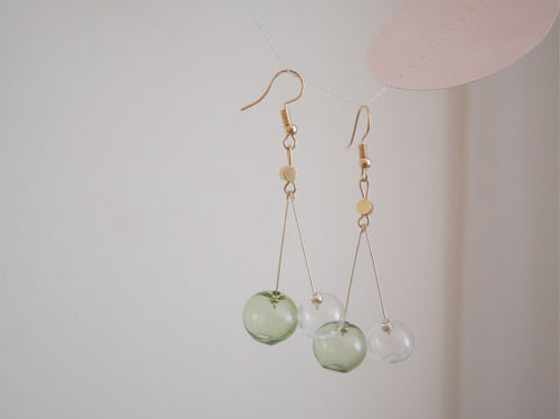A Breath Of Fresh Air Bubble Drop Earrings (Quick to ship)