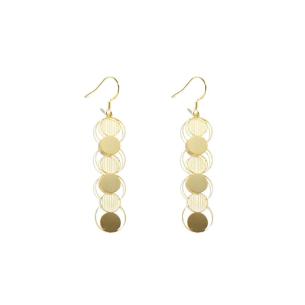 18K Gold Plated Link Drop Earrings - AHED Project