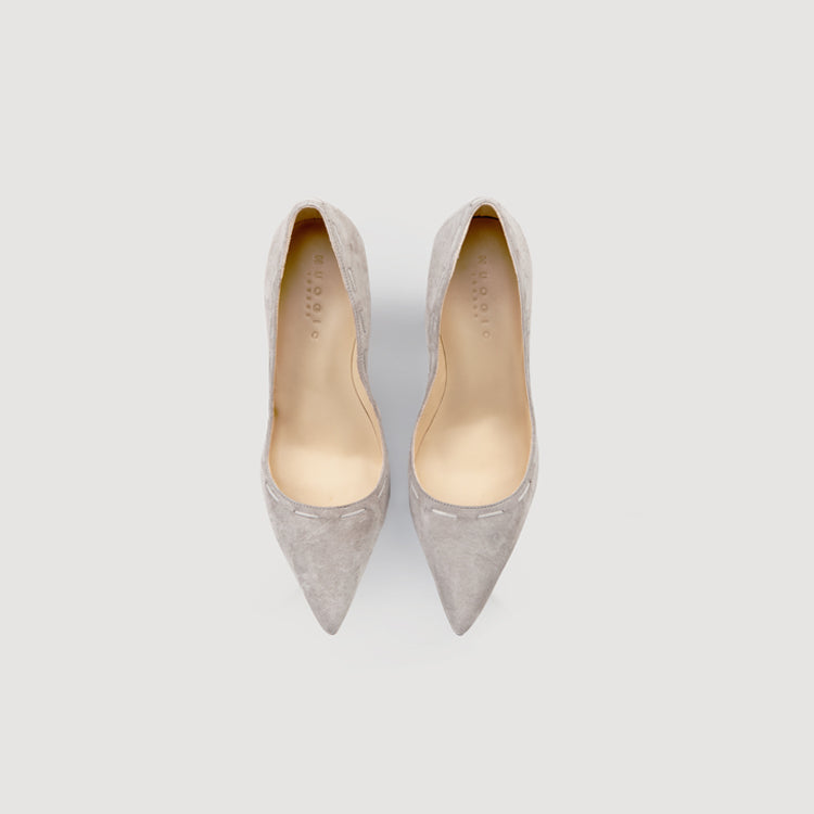 Pointed Toe Twisted Heel Pumps in 2 Shades - AHED Project