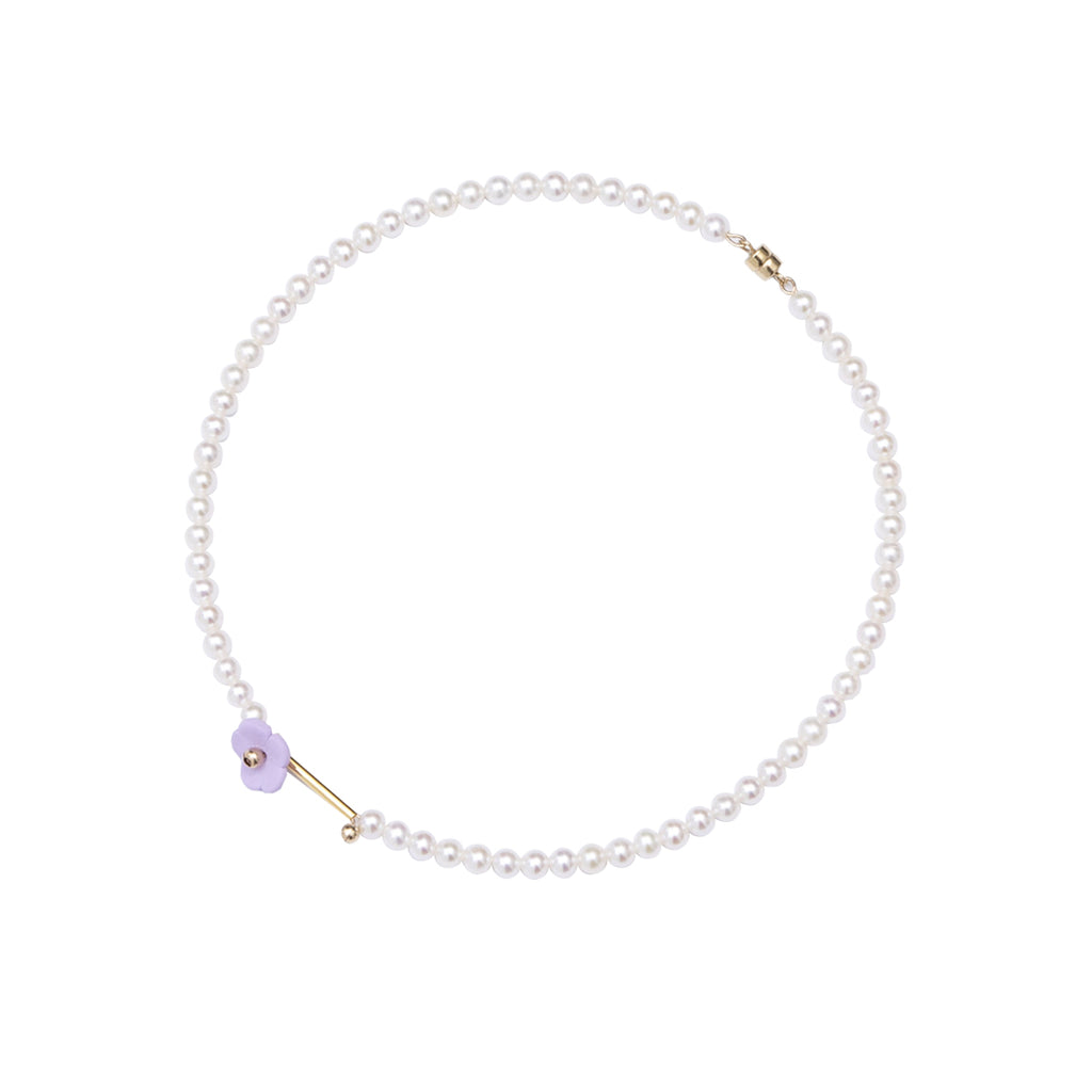 Little Flowers Series - Premium Pearl Magnetic Clasp Choker