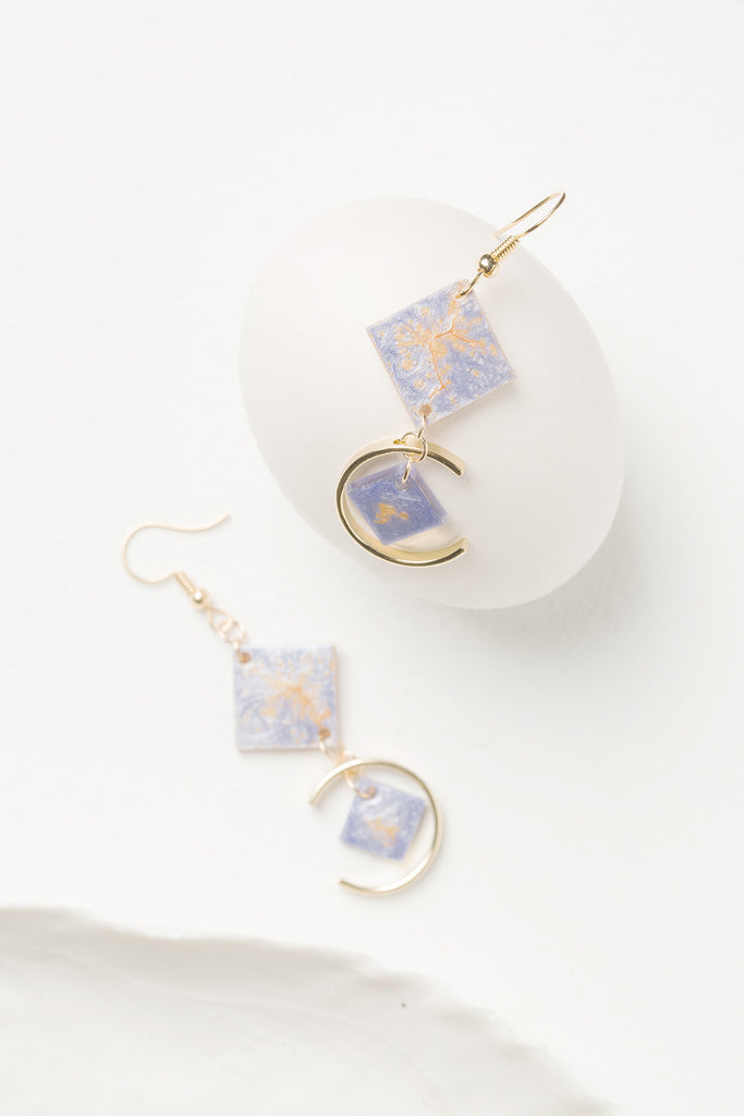 Ginkgo Leaves Autumn Palette Drop Earrings - AHED Project
