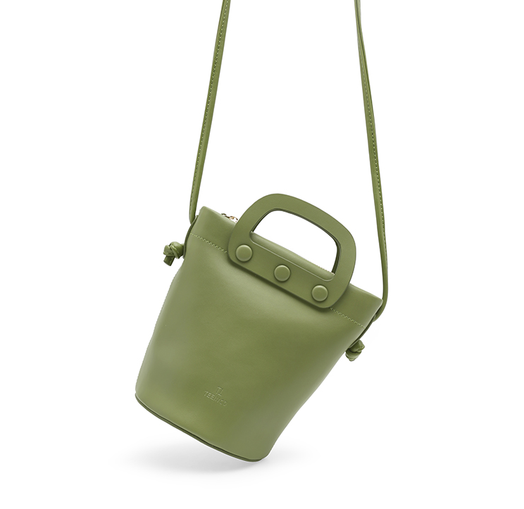 Grass Green Small Bucket Bag-Crossbody - AHED Project