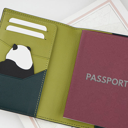 Panda Series Limited Edition Leather Passport Holder