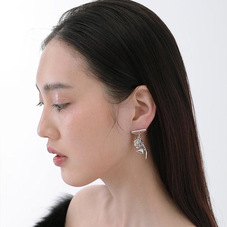 Dangle Rose Stud Drop Earring(s)