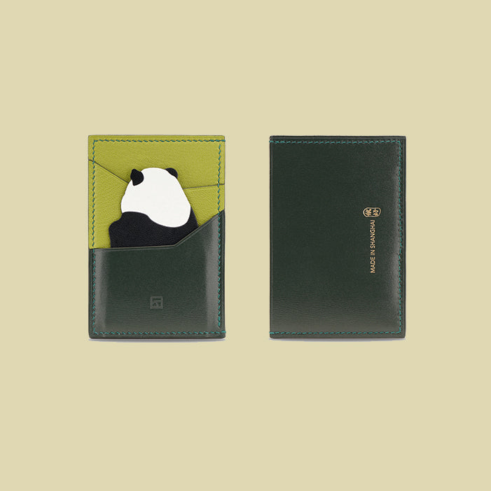 Limited Edition Panda Card Holder- Green