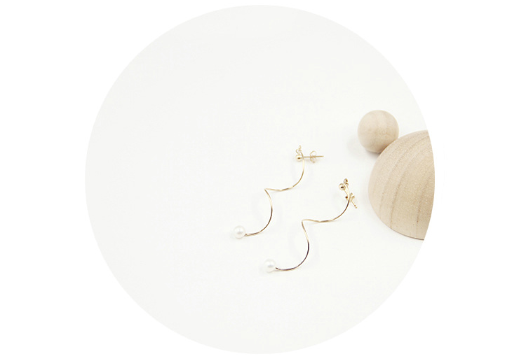 14K Gold Filled Long Spiral Pearl Drop Earrings