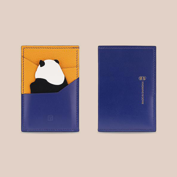 Limited Edition Panda Card Holder- Orange & Blue