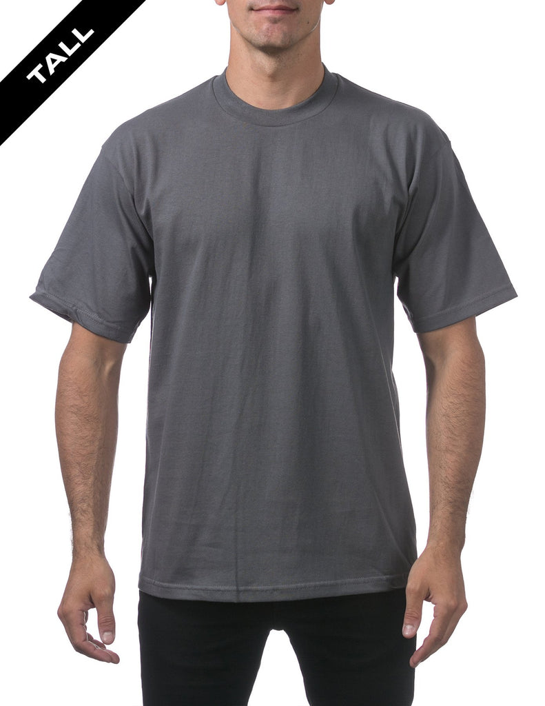 PRO CLUB Heavyweight Short Sleeve Tall Tee  GRAPHITE - THE M.F OLDSCHOOL STORE