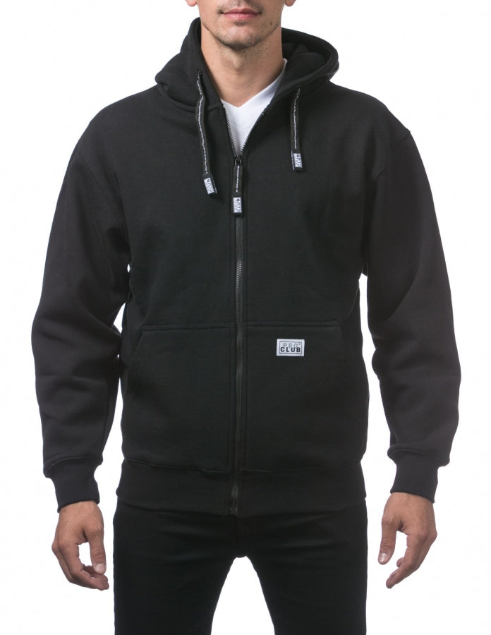 PRO CLUB Heavyweight Full Zip Fleece Hoody - THE M.F OLDSCHOOL STORE