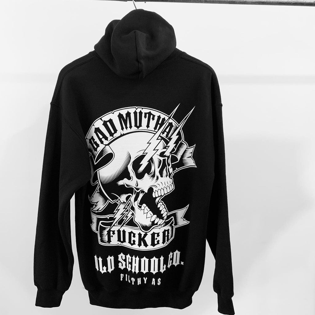 The Bad MF ,  Hooded Sweatshirt - THE M.F OLDSCHOOL STORE