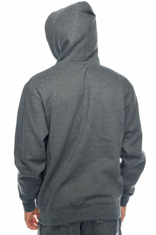 Pro- Club Heavyweight Hood, Talls Dark Heather Grey - THE M.F OLDSCHOOL STORE