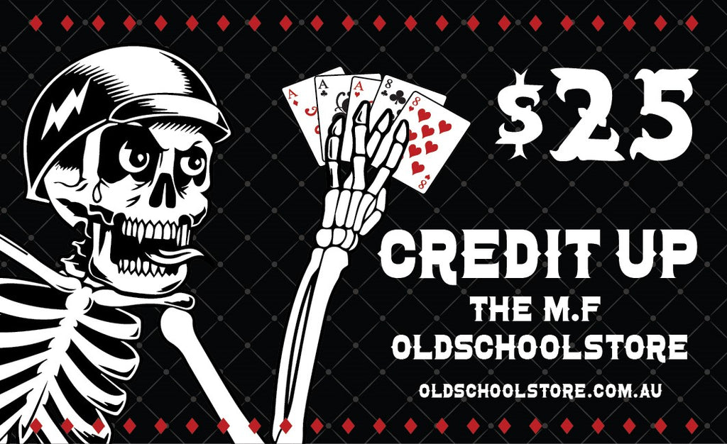 THE M.F GIFT CARD - THE M.F OLDSCHOOL STORE