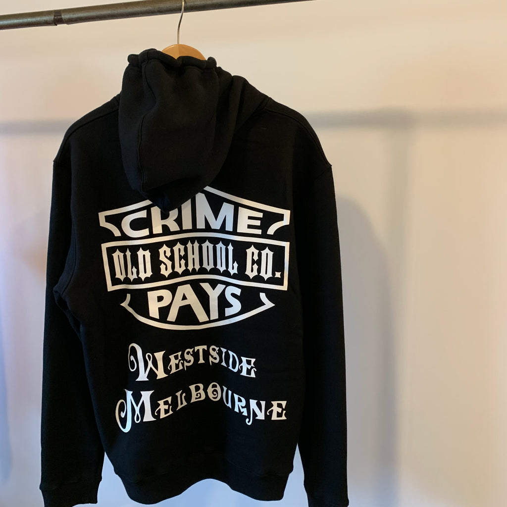 WESTSIDE BABY  Crime Pays # 1     Hooded Sweatshirt - THE M.F OLDSCHOOL STORE