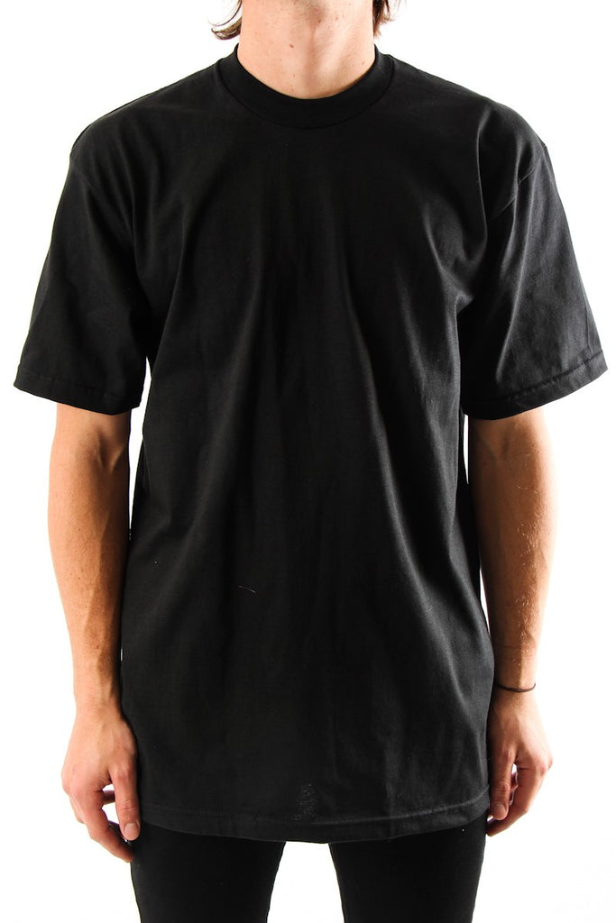 Pro Club Tee Shirt S/S Heavyweights   Talls   BLACK - THE M.F OLDSCHOOL STORE