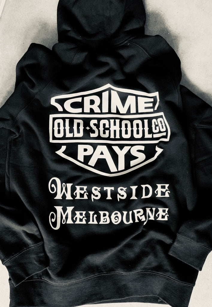 CRIME PAYS  Westside Baby ,  Hooded Sweatshirt - THE M.F OLDSCHOOL STORE