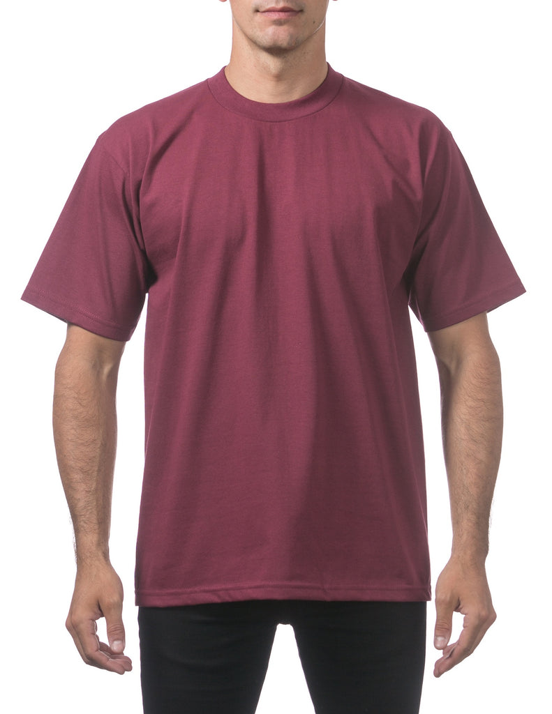 ProClub  Tee Shirts S/S  Heavyweights, Talls  MAROON - THE M.F OLDSCHOOL STORE