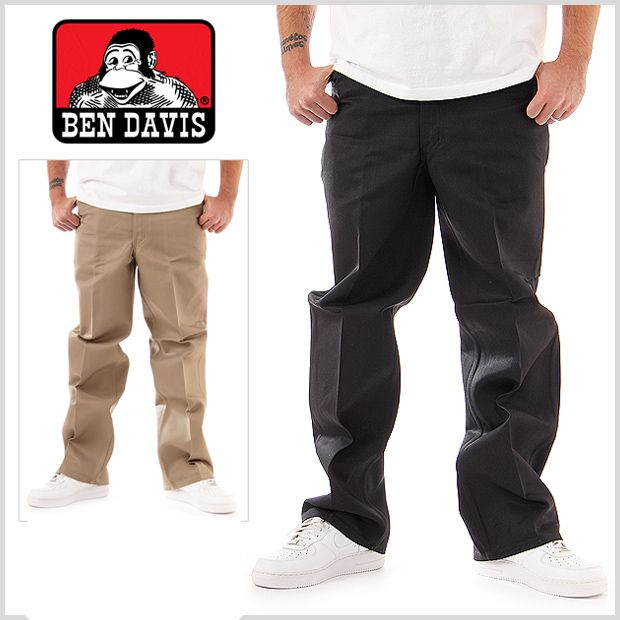 BEN DAVIS ORIGINALS , BENS PANTS 694s  BLACK - THE M.F OLDSCHOOL STORE
