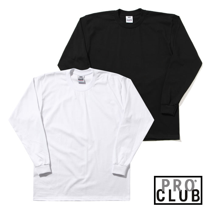 Pro Club Tee Shirt LONG SLEEVE  Heavyweight  Talls   BLACK - THE M.F OLDSCHOOL STORE