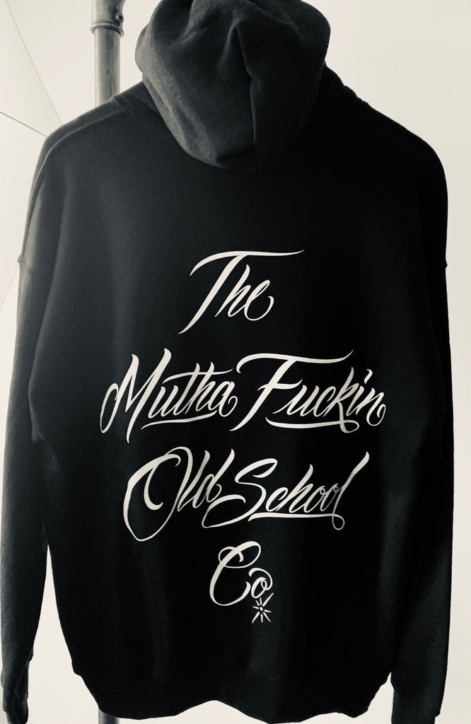 THE M.F OLDSCHOOL CO , Hooded sweatshirt, black