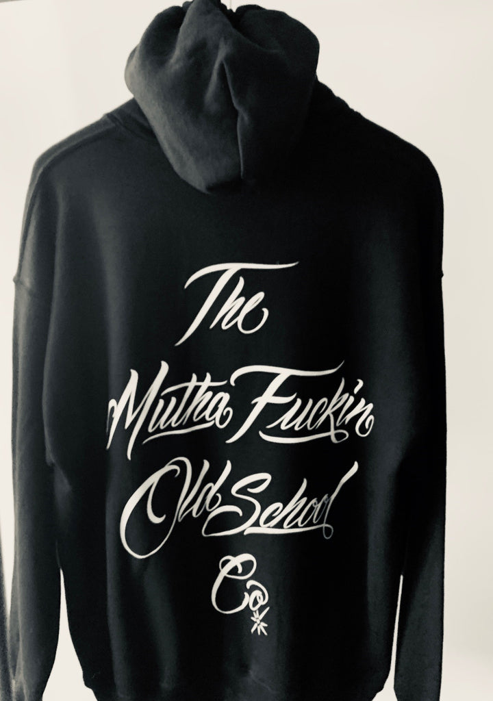 THE M.F OLDSCHOOL CO , Hooded sweatshirt, black - THE M.F OLDSCHOOL STORE