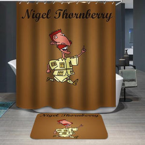 Nigel Archibald Thornberry Smashing Custom Shower Curtain