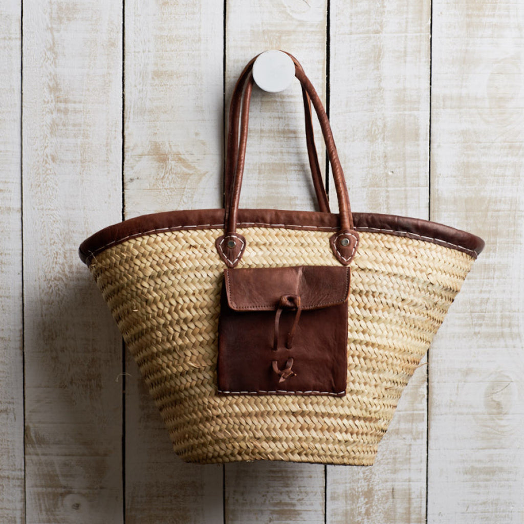 French Market Basket Bag / Pocket