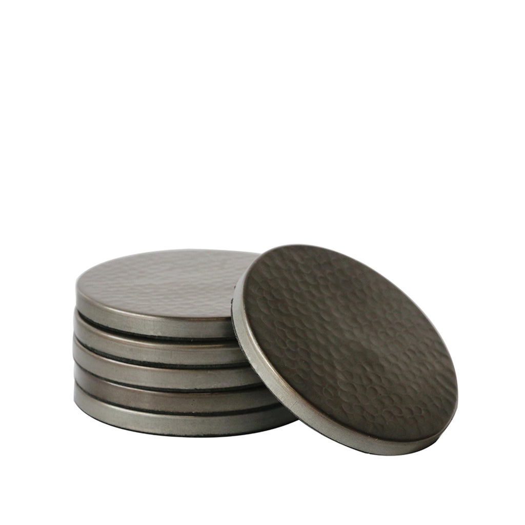 Hammered Satin Grey Coaster