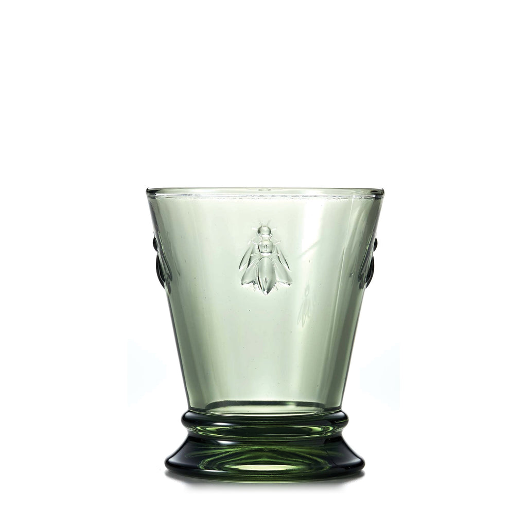 La Rochère / Bee Glass Tumbler / Short / Green