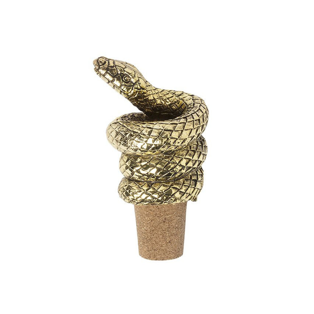 Mamba Snake Bottle Stopper / Gold