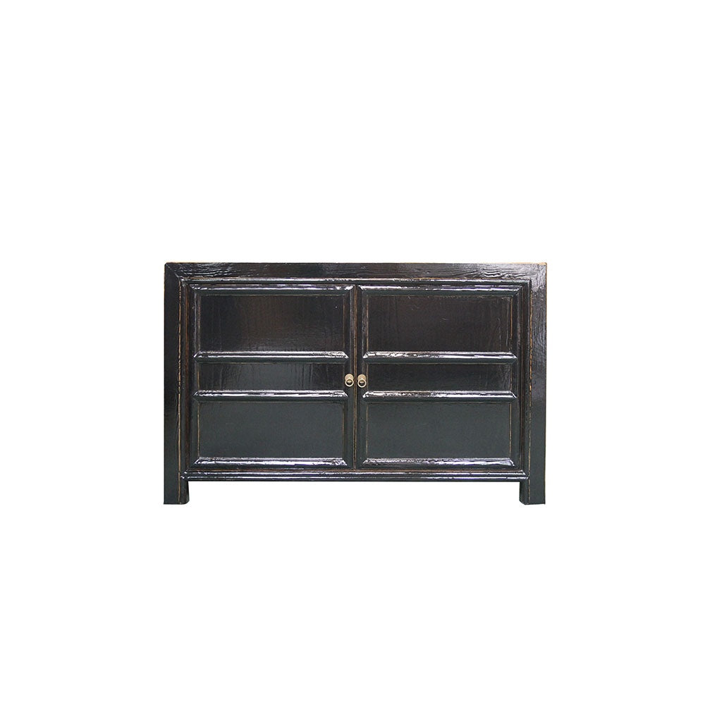 Chinese Panelled Two Door Cabinet