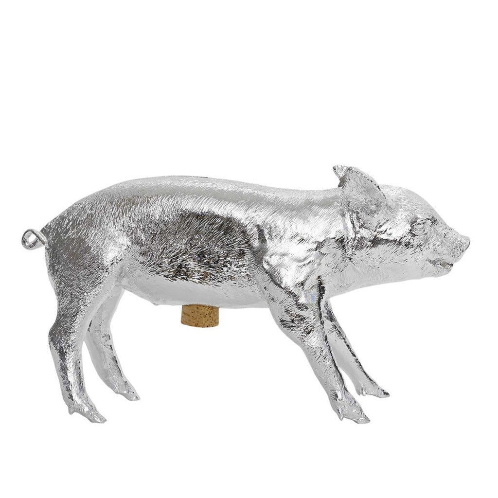 Areaware / Bank in the Form of a Pig / Silver