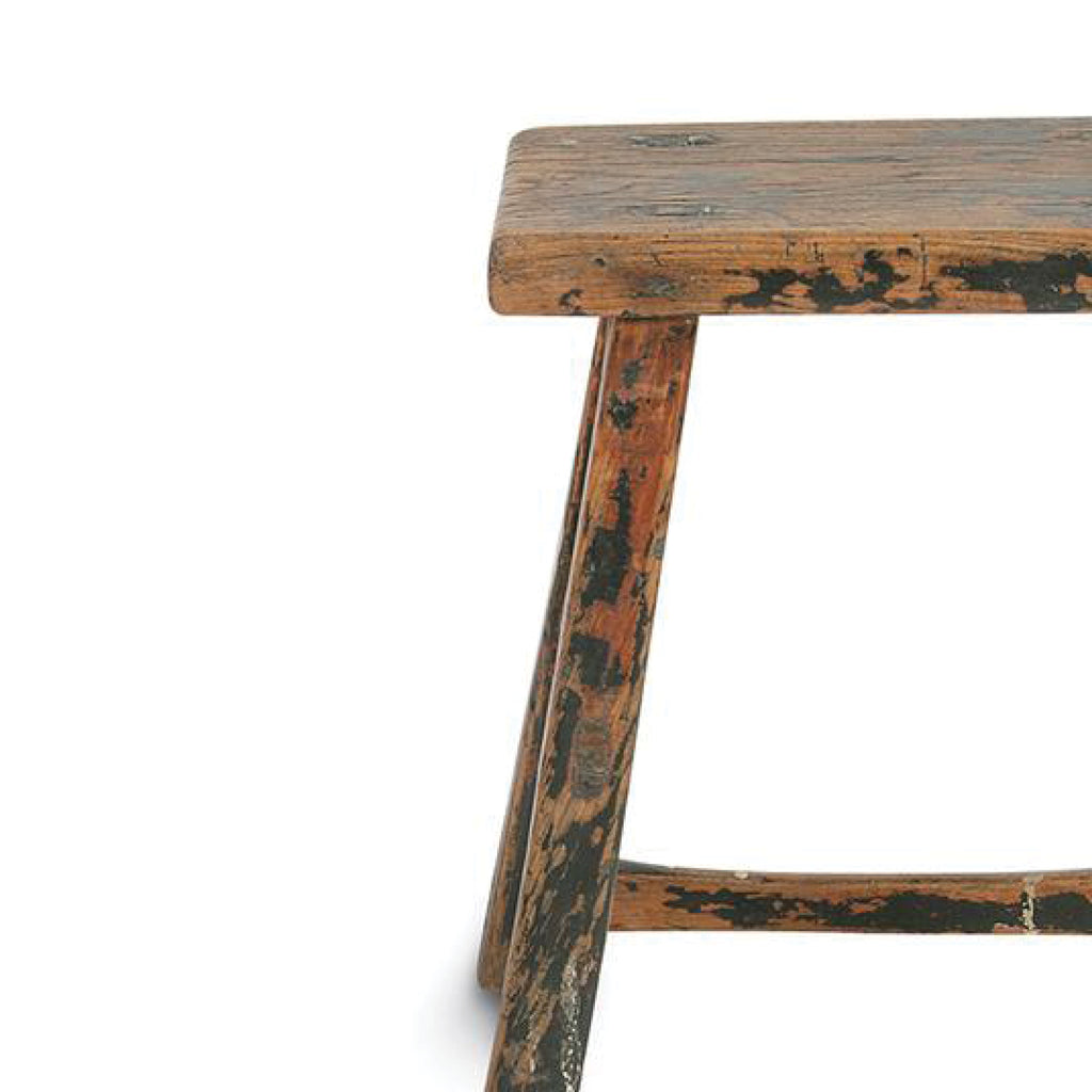 Antique Wooden Stool / Rectangle