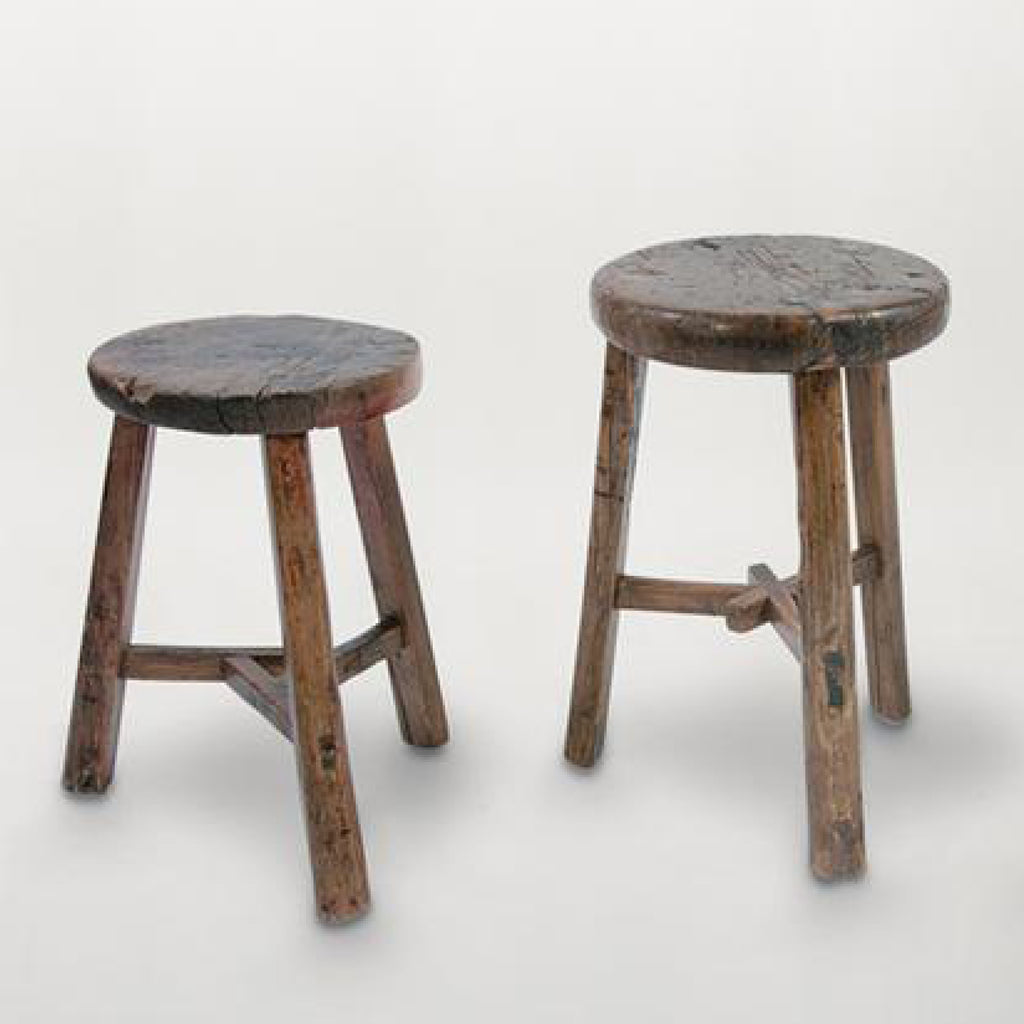Antique Wooden Stool / Round