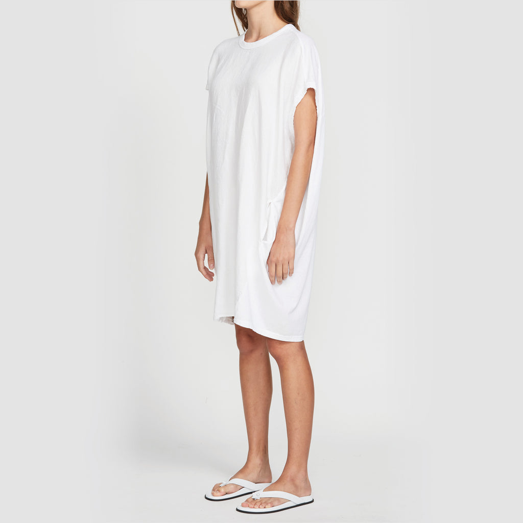 Bassike / Circle Contrast Tank Dress / White