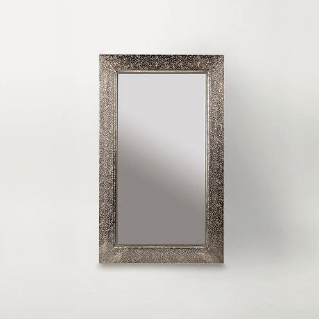 Embossed Metal Frame Mirror