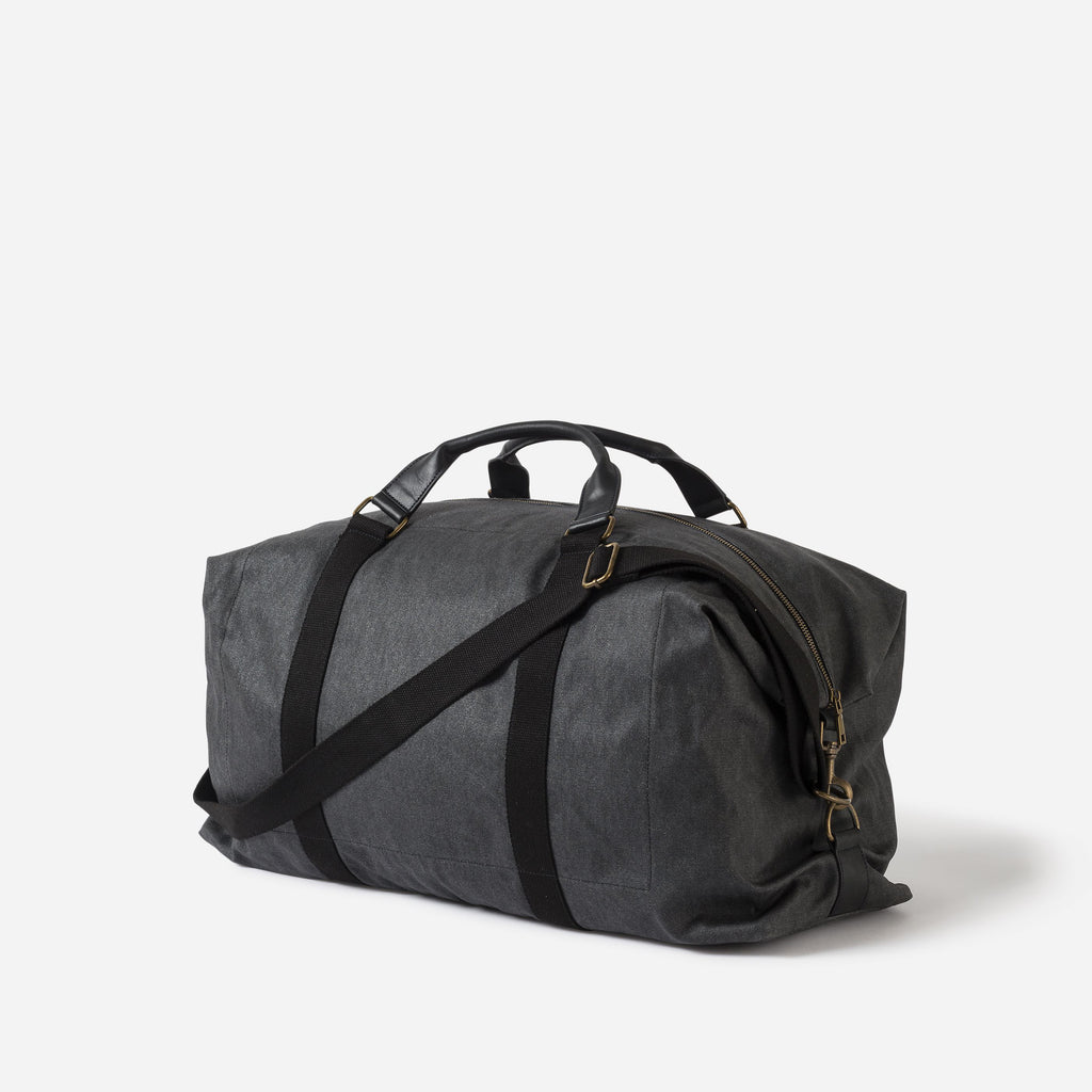 La Paz Waxed Canvas & Leather Weekender / Black