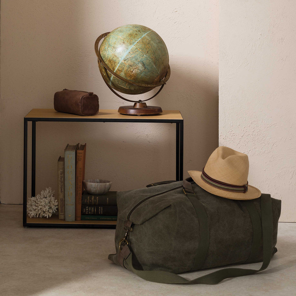 La Paz Waxed Canvas & Leather Weekender / Olive
