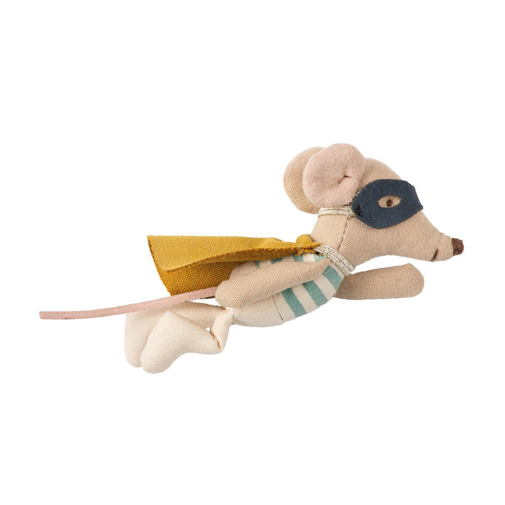 Maileg / Superhero Mouse in Suitcase