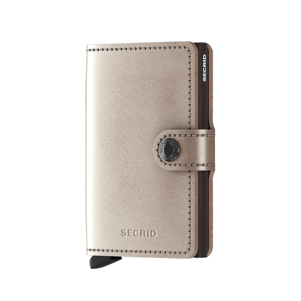 Secrid / Mini Wallet / Metallic Champagne- Brown