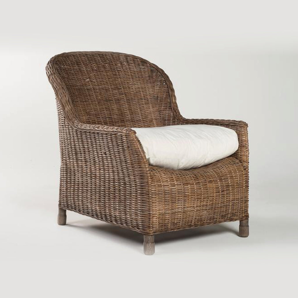 Rattan Gable Lounge Chair / Pepper