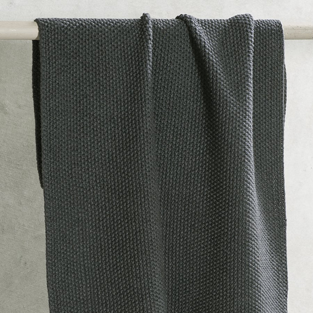 Lavette Knitted Hand Towel / Charcoal Set of 2