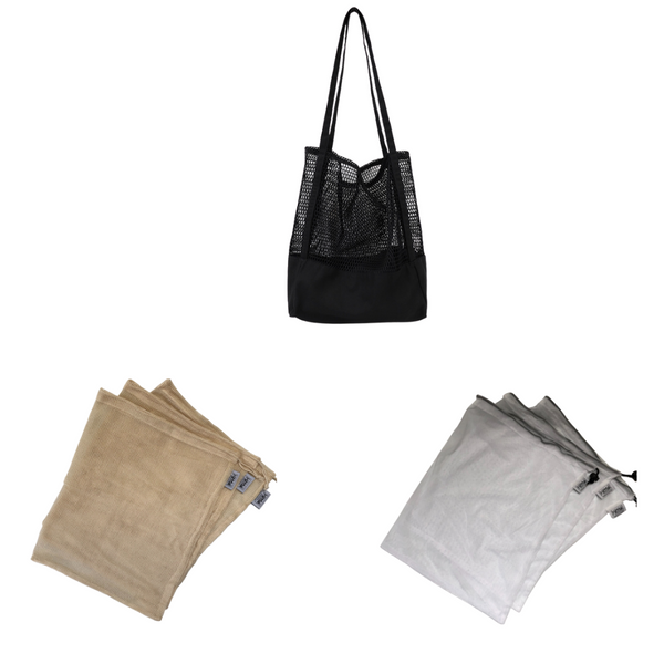 Eco Shopping Kit (Black Canvas Mesh Tote) - KitMaii