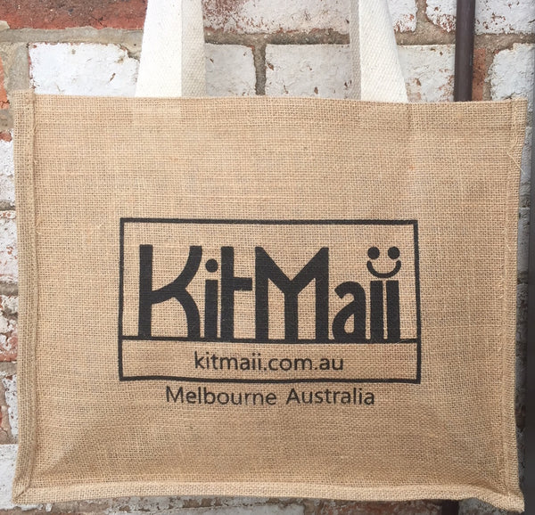 Jute Shopping Bag with handy pockets - KitMaii