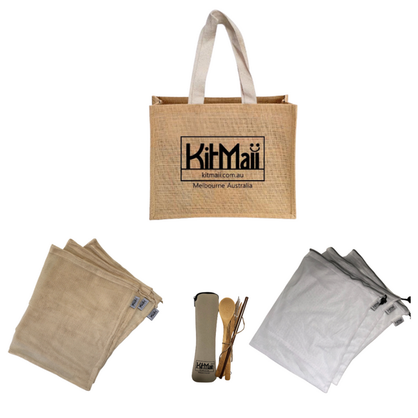 Eco Starter Kit (Jute Shopping Bag) - KitMaii