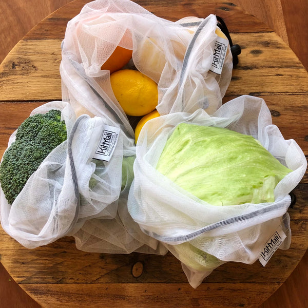 Recycled Mesh Reusable Produce Bags - KitMaii