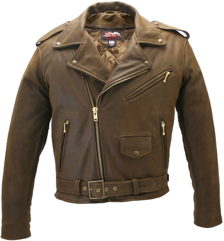 Classic Vintage Motorcycle Leather Jacket